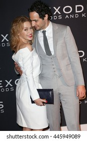 Brooklyn, New York, USA; December 7th, 2014; Kylie Minogue and Zac Posen arrive to the premiere of Exodus: Gods and Kings at the Brooklyn Museum.