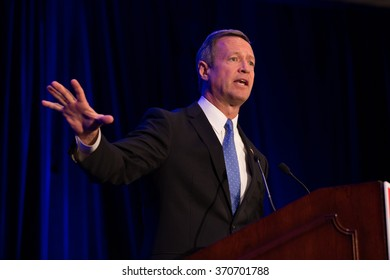 BROOKLYN, NY - DECEMBER 15 2015: Democratic presidential candidate Martin O'Malley at the National Immigration Integration Conference.