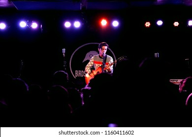 Brooklyn, NY; Jan 2018 - Shots from the audience of Drake Bell as he performs an acoustic show