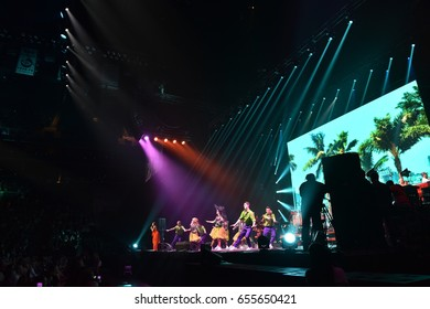 BROOKLYN, NY - JUNE 03: Over ten thousands people attend the Viktor Drobysh 50th year birthday concert at Barklay Center on June 03, 2017 in Brooklyn NY.