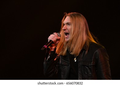 BROOKLYN, NY - JUNE 03: Singer Ivan (Aleksander Ivanov) performs on stage during the Viktor Drobysh 50th year birthday concert at Barclay Center on June 03, 2017 in Brooklyn NY.
