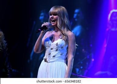 BROOKLYN, NY - JUNE 03: Singer Valeria performs on stage during the Viktor Drobysh 50th year birthday concert at Barclay Center on June 03, 2017 in Brooklyn NY.