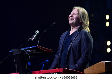 BROOKLYN, NY - JUNE 03: Victor Drobysh performs on piano on stage during the Viktor Drobysh 50th year birthday concert at Barclay Center on June 03, 2017 in Brooklyn NY.