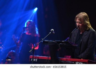 BROOKLYN, NY - JUNE 03: Viktor Drobysh performs on piano on stage during the Viktor Drobysh 50th year birthday concert at Barclay Center on June 03, 2017 in Brooklyn NY.