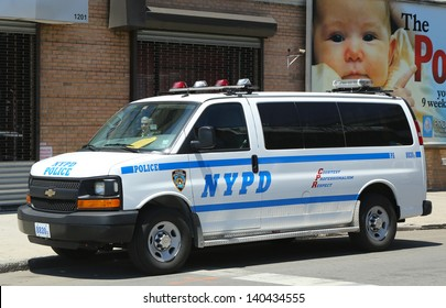 BROOKLYN, NY- MAY 27 :NYPD van in Brooklyn, NY on May 27, 2013. The New York Police Department, established in 1845, is the largest police force in USA