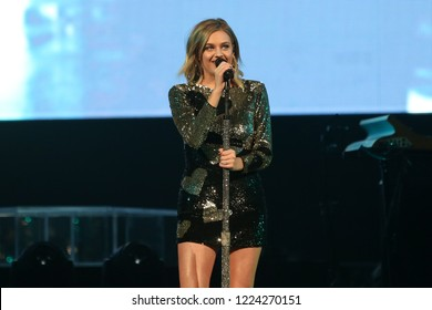 BROOKLYN, NY - OCT 27: Country singer Kelsea Ballerini performs onstage at Barclays Center on October 27, 2018 in Brooklyn, New York.