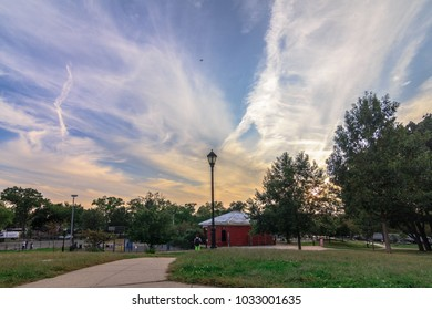 BROOKLYN, NY / USA - September 12, 2017: McKinley Park with sky view during the fall.