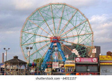 BROOKLYN - OCTOBER 25: The Wonder Wheel at the now defunct astroland at Coney Island October 25, 2010 in Brooklyn, New York.