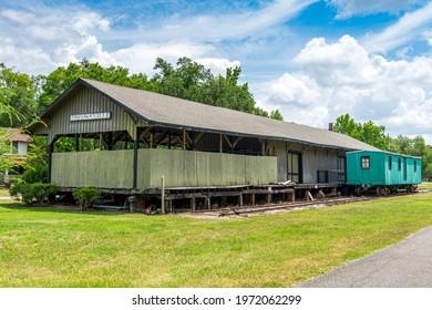 Brooksville 1885 Train Depot historical site - Brooksville, Florida, USA
