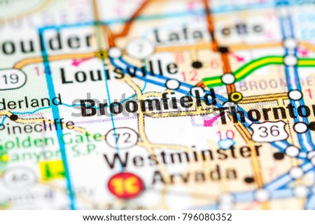 Broomfield Colorado USA On Map Stock Photo (Edit Now) 796080352 ...