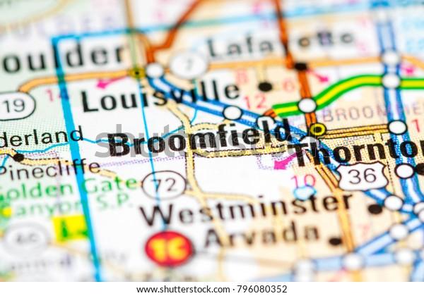 Broomfield Colorado Usa On Map Stock Photo (Edit Now) 796080352