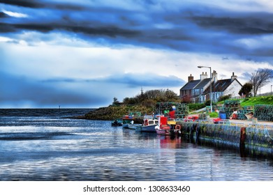 Brora harbour at High Tide