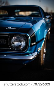 BROSSARD, CANADA - MAY 19, 2017 - 1968 Chevrolet Camaro at the Auto Retro car show, vintage car show located in Brossard