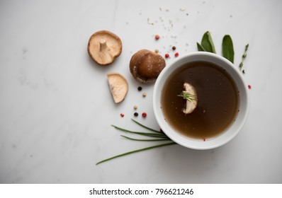 Broth in Small Bowl
