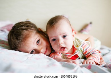 brother and elder sister love each other and happy