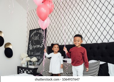 brother and sister gender reveal