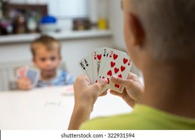 Brothers playing Card Game