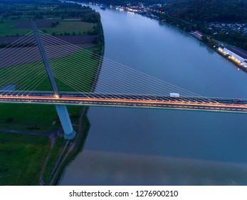 Brotonne bridge, Saint-Nicolas-de-Bliquetuit, Normandy, France