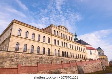 Broumov, Czech Republic. Primary school building (zakladni skola hradebni) in Broumov, Hradec kralove region, Czech Republic. - Shutterstock ID 1075701101