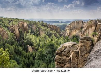 Broumov walls - Shutterstock ID 401812549