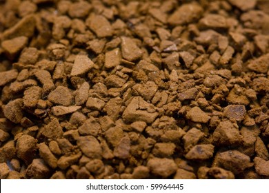 brown aromatic instant coffee macro