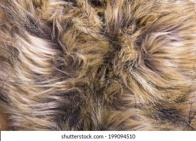 Brown artificial fur texture for background