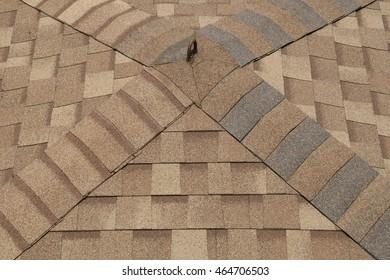 Brown Asphalt Shingles Roof Texture