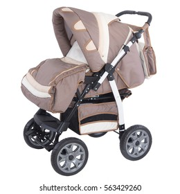 brown baby carriage