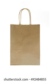 Brown bag isolated