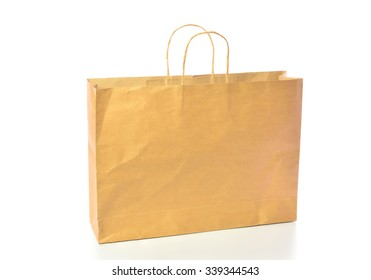 brown bag isolated on white background