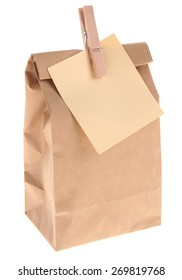 Brown Bagged Lunch with blank note