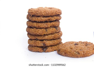 brown baked biscuits