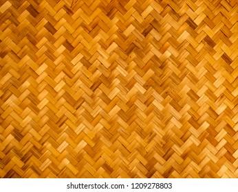 Brown Bamboo Mats , Wicker surface pattern