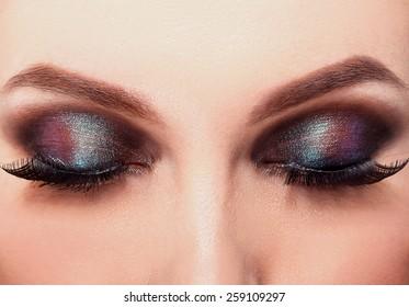 Brown beauty fashion make-up
