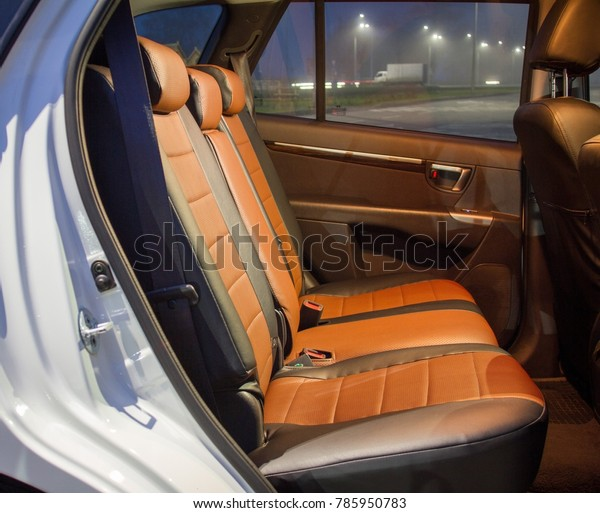 Brown Black Leather Seats Stock Photo Edit Now 785950783