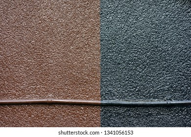 Brown and black outer wall