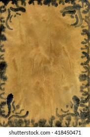 Brown and black vintage frame