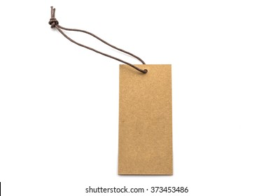 Brown blank tag isolated on white background