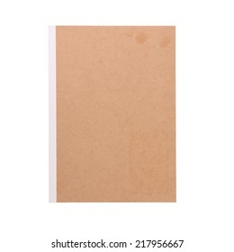 brown book isolated on white background