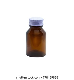 brown bottle for medicine ,health concept.
