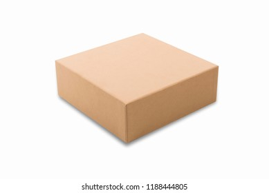 Brown box isolated on white background.