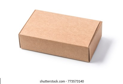 brown boxes recycle isolated on white with clipping path