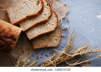 brown bread background