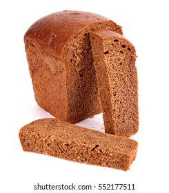 Brown bread isolated over white background