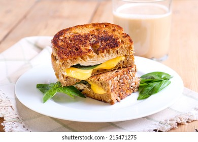 Brown bread with seeds grilled sandwich