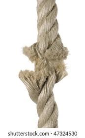 Brown broken rope concept image