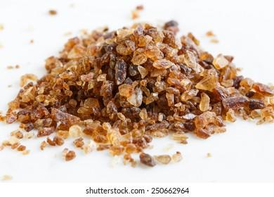 brown candy crystals sugar