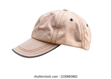 Brown cap, isolated on white background with clipping path.