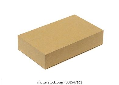 Brown cardboard box mock up isolated on a white background