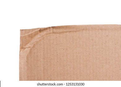 Brown cardboard sheet of paper, abstract texture for background